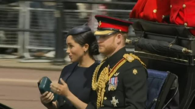 Meghan Markle attends Queen Elizabeth II's birthday. [Image source/VOA News YouTube video]