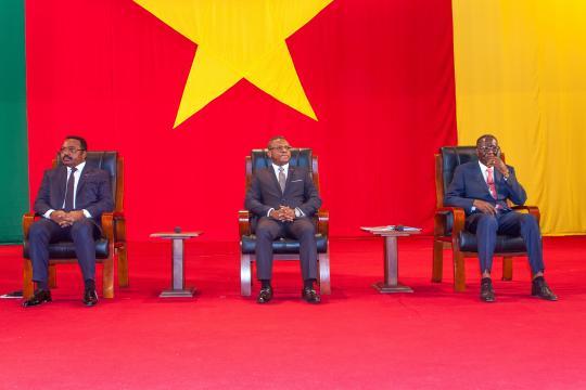 Le Premier Ministre Dion Ngute au Grand Dialogue National au Palais des Congrès (c) PRC