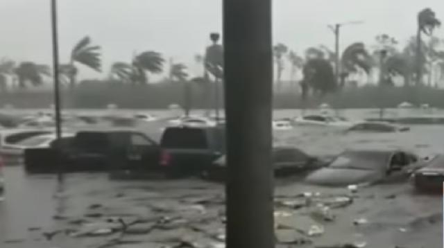 Devastating images show Dorian ravaging the Bahamas. [Image source/CBS This Morning YouTube video]