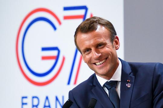 Emmanuel Macron dresse le bilan du G7 - parismatch.com