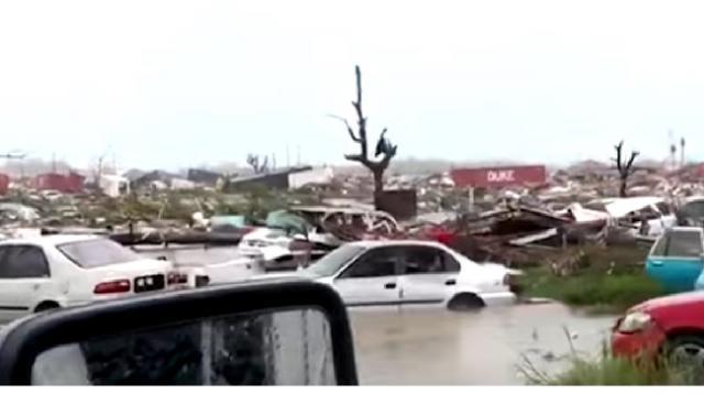Hurricane Dorian leaves trail of destruction in Bahamas. [Image source/Global News YouTube video]