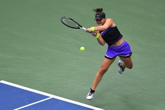 Bianca Andreescu jugó un primer set casi perfecto. www.bloomberg.com