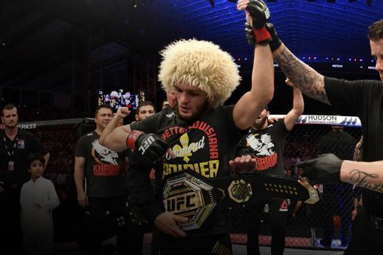 Khabib se convirtió en el campeón ligero indiscutible de la UFC. www.ufc.com