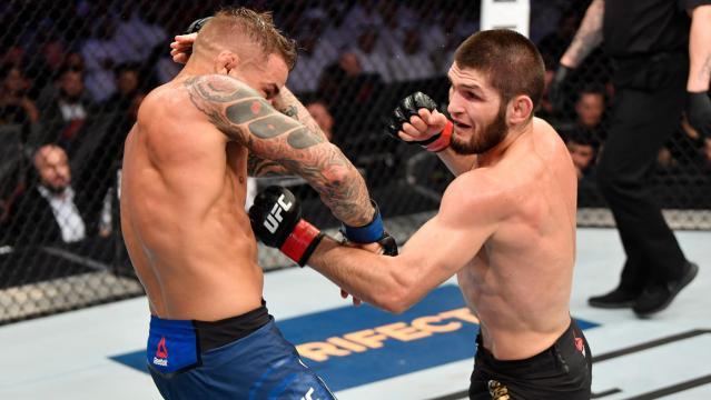 Poirier fue un digno rival para el invicto Nurmagomedov. UFC.com.
