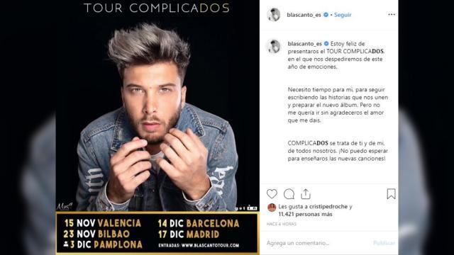 Público TV - Blas Cantó anuncia nueva gira: 'Complicados' - publico.es