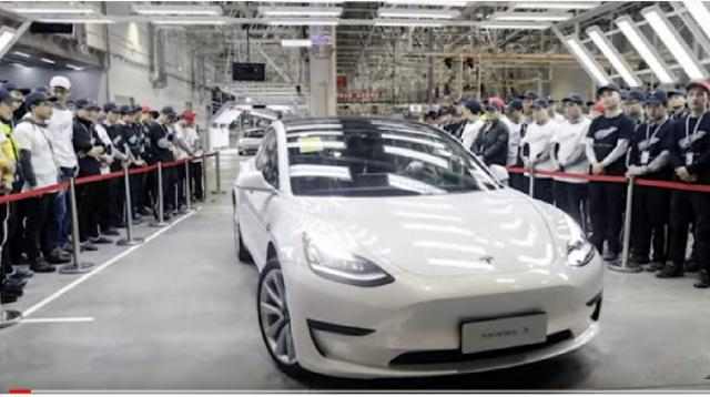 Tesla Gigafactory 3 Shanghai and the first Made in China Model 3 deliveries. [Image source/The Millennieal Investor YouTube video]