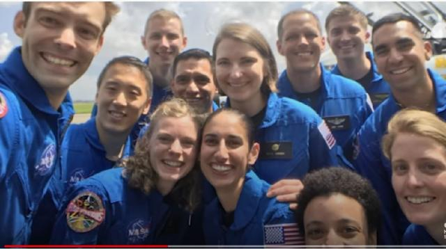 NASA's newest group of astronauts: The class of 2017. [Image source/NBC News YouTube video]