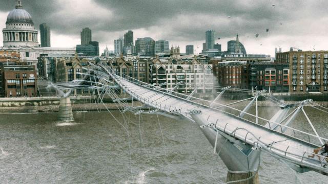 Millenium Bridge destruido por los dementores en Harry Potter