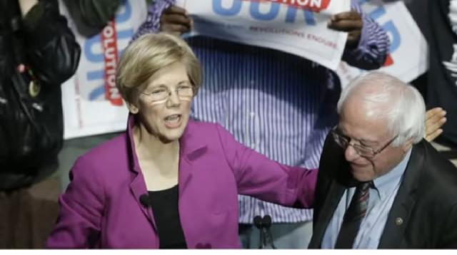 President 2020 race - Elizabeth Warren and Bernie Sanders clash ahead of debate. [Image source/CBS This Morning YouTube video]