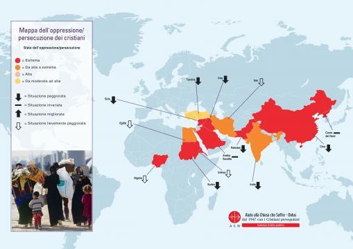 Cristiani perseguitati nel mondo: la mappa.