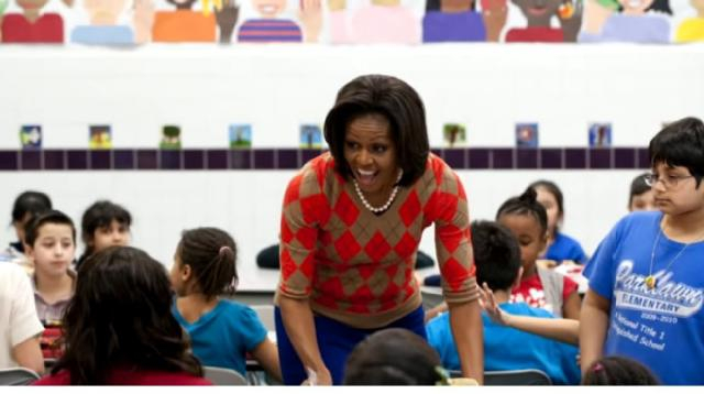 Trump administration changes Michelle Obama's school lunch standards. [Image source/CBS News YouTube video]