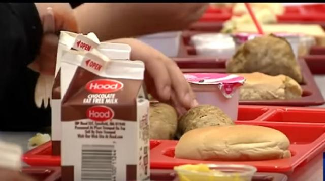 USDA announces plans to lower Obama-era school lunch regulations. [Image source/WWLP-22News YouTube video]