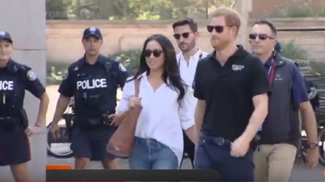 Invictus Games 2017: Prince Harry with Meghan Markle. [Image source/ Forces TV YouTube video]