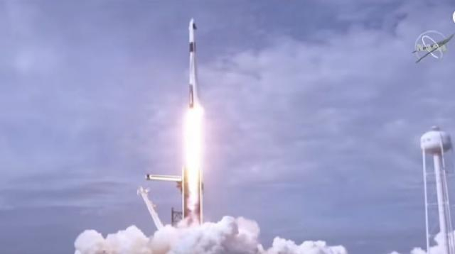 SpaceX blows up rocket to test astronaut escape system. [Image source/Sky News YouTube video]