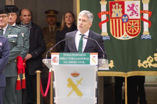 El Ministro de Interior da la réplica al discurso inaugural de la nueva directora