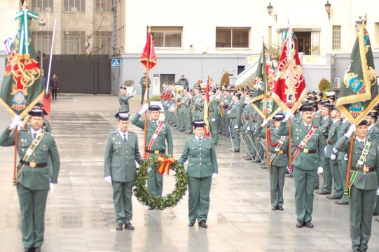 Homenaje a los Guardias Civiles caídos en acto de servicio