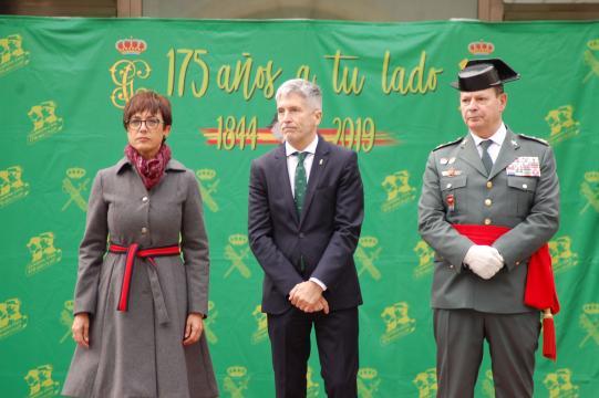 La Directora General, el Ministro de Interior y el Subdirector General Operativo del cuerpo