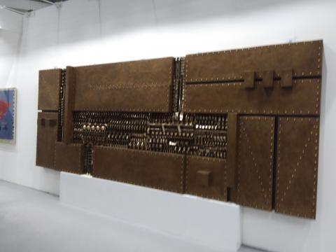 Arte Fiera 2020, scultura in bronzo e ottone di Giò Pomodoro
