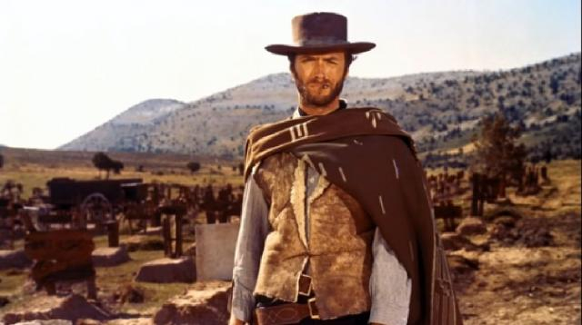 The Good, the Bad and the Ugly theme song Clint Eastwood. [Image source/axis810 YouTube video]