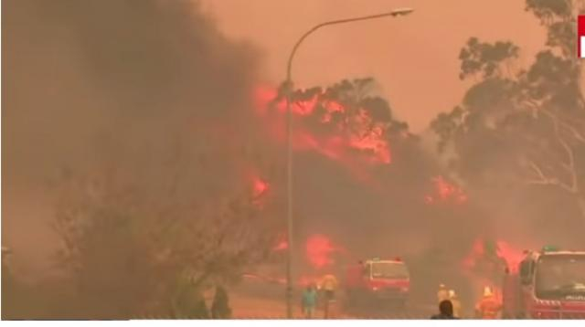Dramatic images from massive fires in Australia. [Image source/ABC News YouTube video]