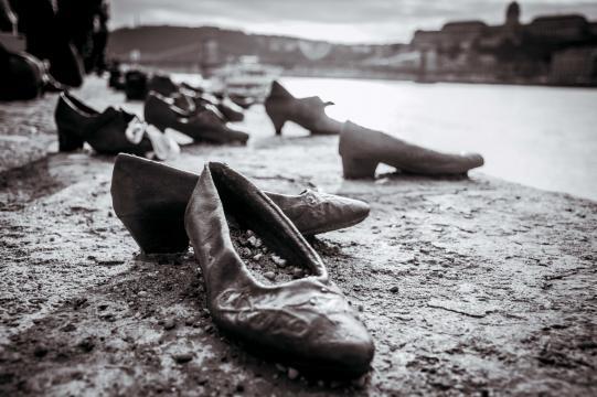 Shoes on Danube Riverbank, Budapest, Hungary. [Image Anél du Preez]