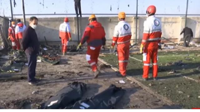 Ukraine Airlines Boeing 737 crash in Iran kills all on board. [Image source/DW News YouTube video]