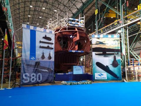 Aunque es evidente que queda mucha obra por terminar el cierre del casco adelantará en mucho la construcción del submarino