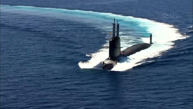 Imagen virtual de como será el aspecto del S-81 navegando en superficie.