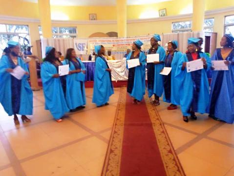 Cérémonie de remise de parchemins de fin de formation de l'ISF à Yaoundé le 09 septembre 2020 (c) Odile Pahai