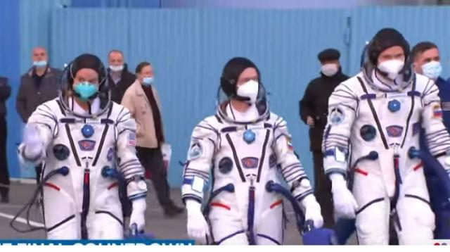 US astronaut Kate Rubins joins Russian Soyuz to ISS for what may be final time. [Image source/TODAY YouTube]