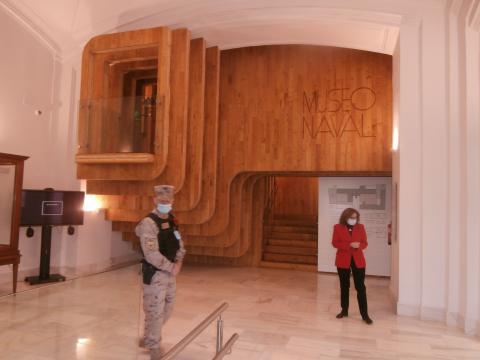 Entrada al nuevo Museo Naval, construida en imitación del castillo de popa de un galeón