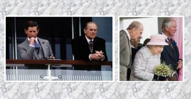Prince Charles et son père Prince Philip