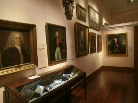 Retratos de ministros y marinos ilustrados en la
