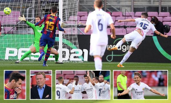 El Madrid pasó su crisis al Barcelona, que está cerca de puestos de descenso.- www.dailymail.co.uk