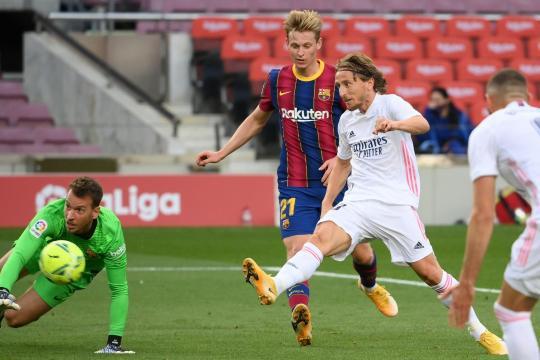 Modric puso la puntilla con el tercer gol. - www.standard.co.uk