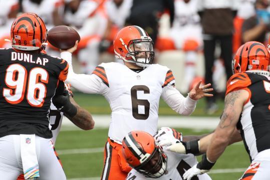 Mayfield tiene a los Browns con marca de 5-2. - www.yahoo.com