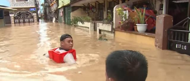 At least 42 killed after Typhoon Vamco batters Philippines. [Image source/Al Jazeera English YouTube video]