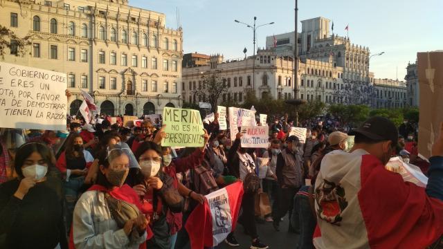 Varios grupos han denunciado violencia policial en la disolución de diversas marchas pacíficas