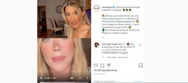 Presentación del canal de Mayka Fuente Instagram de MTMAD