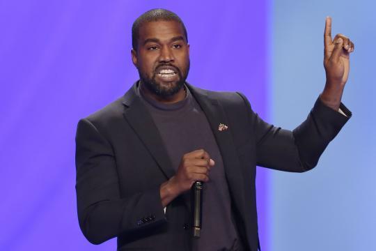 Kanye West durante su campaña presidencial.
