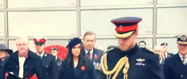 Harry and Meghan shared photos on Remembrance Sunday. [Image source/TV News 24h YouTube video]