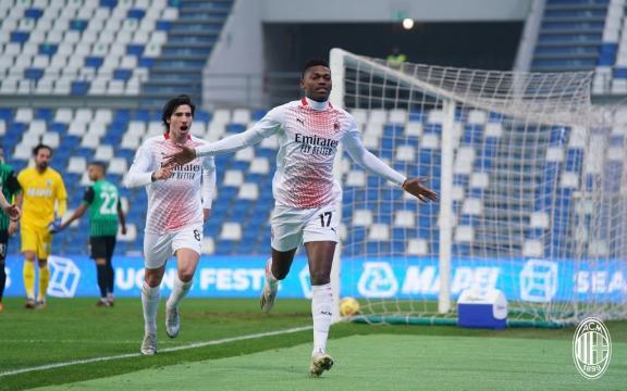 Rafael Leao sigla il gol più veloce d'Europa della storia. Foto di: acmilan.com