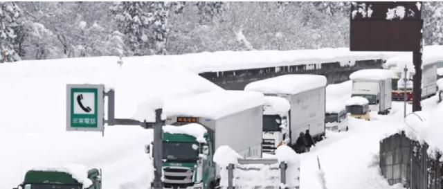 Snowstorm leaves thousands of vehicles stranded in Japan. [Image source/CTV News YouTube video]