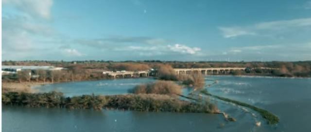 Floods in Northamptonshire on Dec 24, 2020. [Image source/Adam Hill YouTube video]