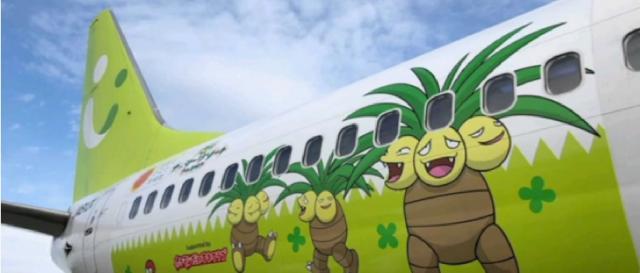 Pokémon plane takes off in Japan. [Image source/World Teach YouTube video]