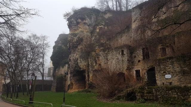 Ruins in Old Quarter, Luxembourg. [Photo by Anél du Preez]
