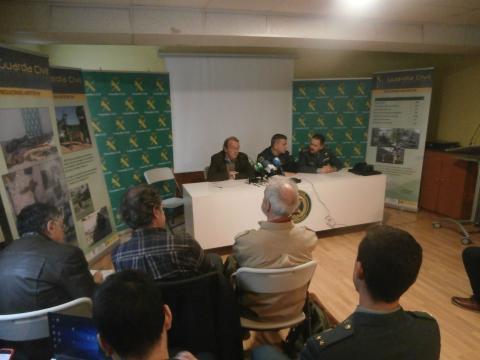 Mandos de la Guardia Civil y autoridades informan de los resultados de la Operación Antitox