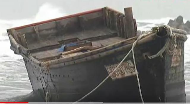 North Korea ghost ship with remains of 8 people found on Japanese coast. [Image source/TomoNews US YouTube video]