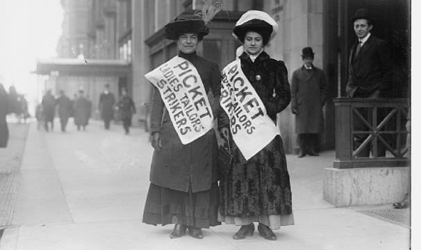 Mujeres en huelga en NUeva York. (Foto de la Biblioteca del Congreso de los Estados Unidos)