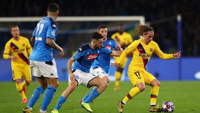 Napoli complicó de más a un gris Barcelona. www.uefa.com